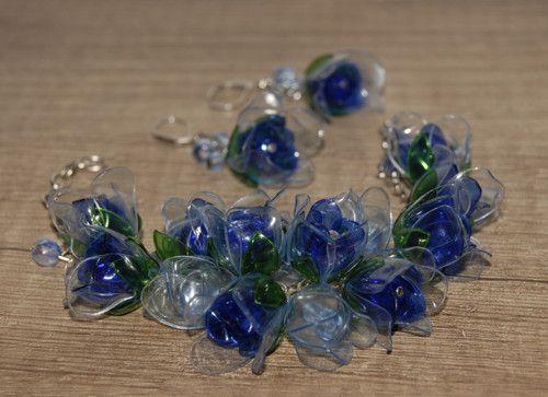 Ledové růže (z PET lahví)