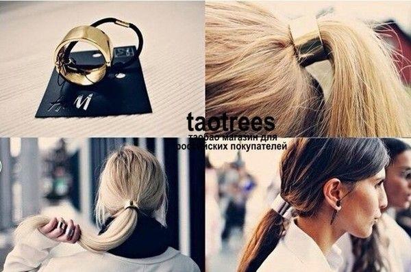 """Мода металла диапазон волос金屬發圈 резиночки хорошие для волос 25ю,брала """"золотые заклепки"""",стильненько."""