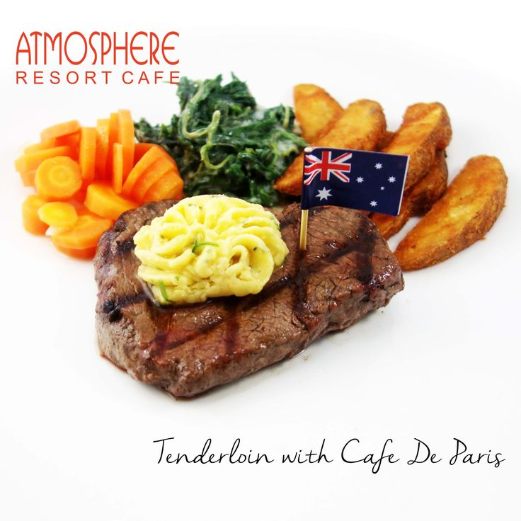 Served with potato wedges, creamy spinach, & vichy carrot  in a buttery café de paris sauce
