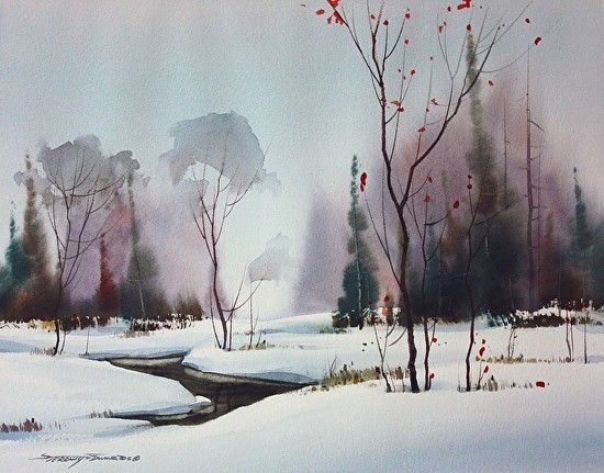 Meandering by sterling edwards Watercolor ~ 11 x 14