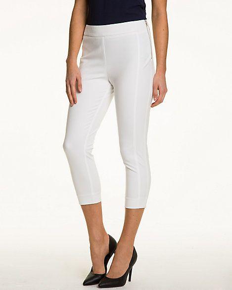 Cotton Gabardine Slim Leg Crop Pant