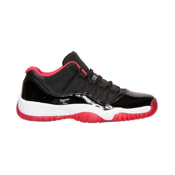 Boys' Grade School Air Jordan Retro 11 Low Basketball Shoes ❤ liked on Polyvore featuring jordans, shoes and jordan 11