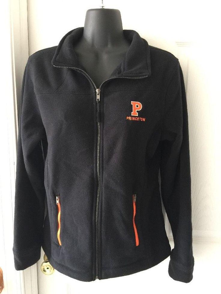 Womens Princeton University Black Fleece Zip Up Jacket Sz S NWOT  #Stadium #FleeceJacket #Casual