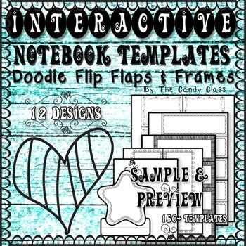 Interactive Notebook Templates: Doodle Flip Flaps & Frames FREE Sample & Preview