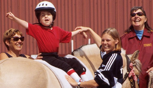 If you know of anyone who has special needs - invite them to check out:  www.pathintl.org - At this website you can enter any city, state or country for a current listing of therapeutic horseback riding & equine assisted therapy centers.