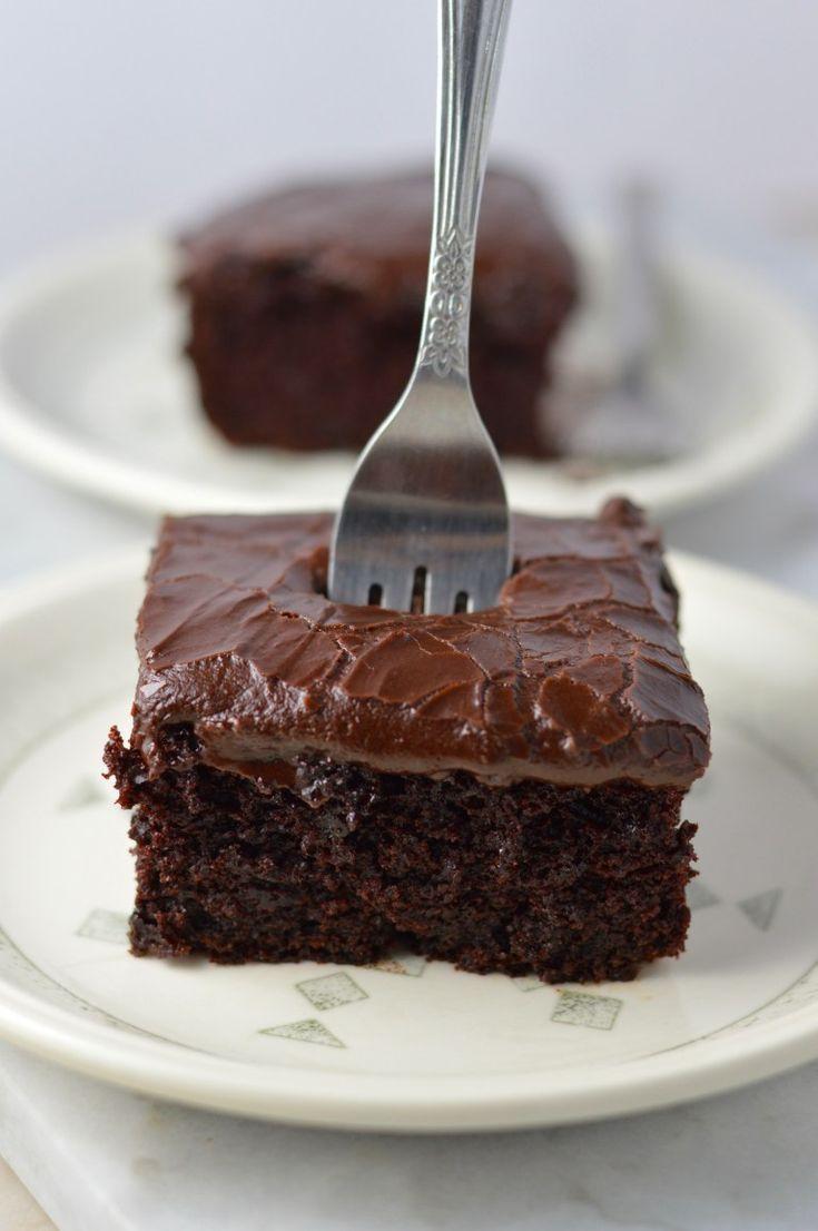Schokoladenblechkuchen   – Rezepte