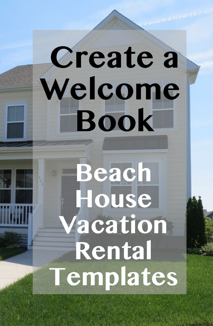 Easy download of Vacation Rental Welcome Booklet Package with bonus documents. Welcome Note, Amenities, House Policies, Departure Checklist. Everything you need to make the best Welcome book for your rental home. Airbnb, Homeaway, Flipkey. MS Word template and samples. ($55) roomfortwo.etsy.com