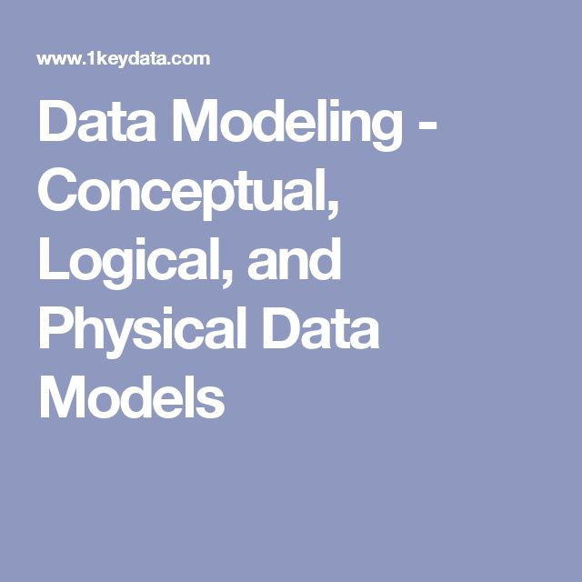 Data Modeling - Conceptual, Logical, and Physical Data Models