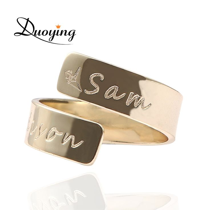 #DUOYING-#Custom-#Name-#Ring-#Personalized-#Letter-#Ring-#Gold-#Dainty-#Initials-#Wrap-#Ring-#Gift-for-#Her