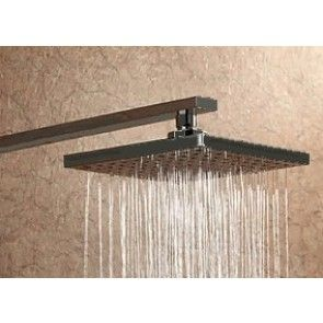 """12"""" Oil Rubbed Bronze Square Color Changing LED Rain Shower Head"""