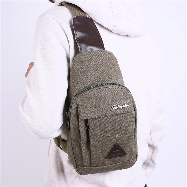 Cheap New Men Vintage Canvas Bags Zipper Closure Adjustable Strap Online green | Tomtop  #men #women  #bags #fashion