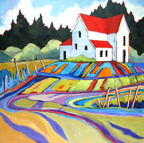 Homestead - painting by Carolee Clark
