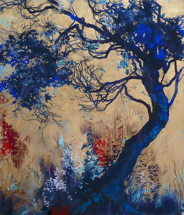 Floral and tree landscape paintings by Henrik Simonsen — A beautiful, nature-inspired artwork!