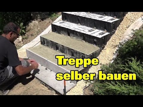 (27) Gartentreppe selber bauen Treppe betonieren