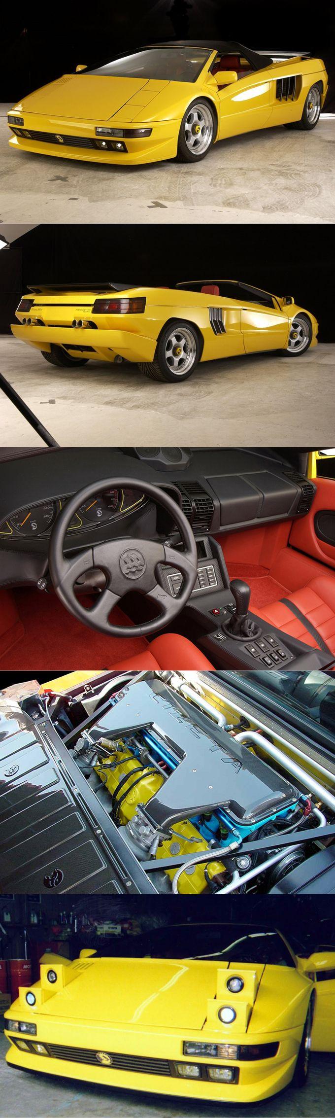 2003 Cizeta TTJ Fenice Spyder / 540hp 6.0l V16 / 1 produced / Marcello Gandini / Italy / yellow red