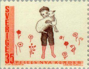 ヴィンテージ切手Sweden 1969 Fairy tales(参考) 色を控えめにすると引き立つね