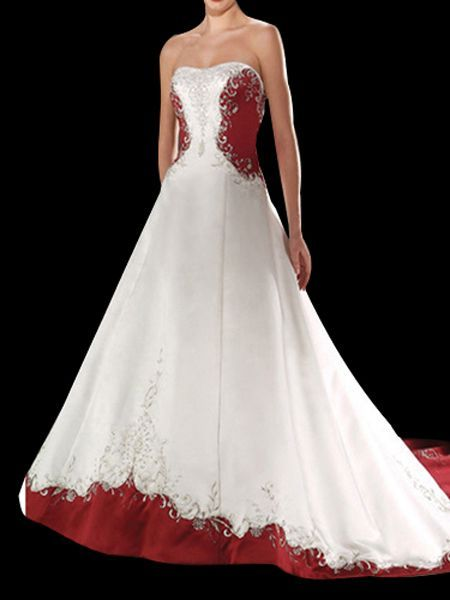 Wonderful Red Wedding Gown | Red And White Wedding Dresses Designs And Ideas |  ImagesForFree.org