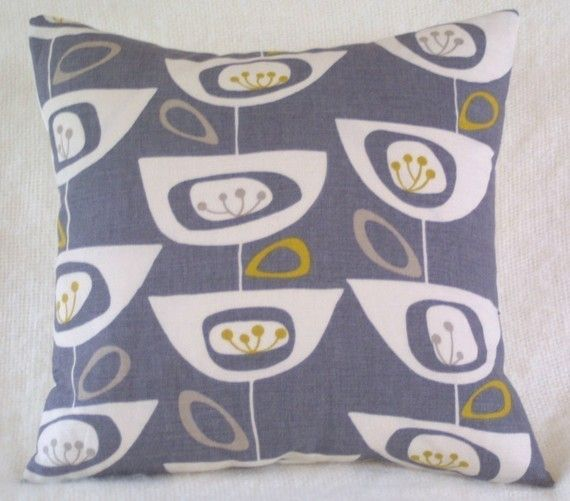 Seedhead cushion cover pillow retro LAST ONE by LouiseBrainwood, £15.00