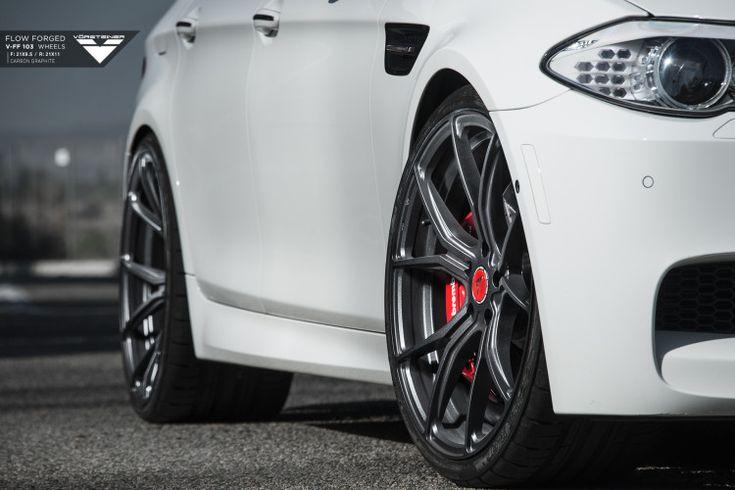Alpine White BMW F10 M5 With Vorsteiner Flow Forged V-FF 103 Wheels