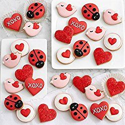 Shari's Berries - Hand Decorated Valentine's Mini Cookies - 30 Piece - 30 Count - Gourmet Baked Good Gifts