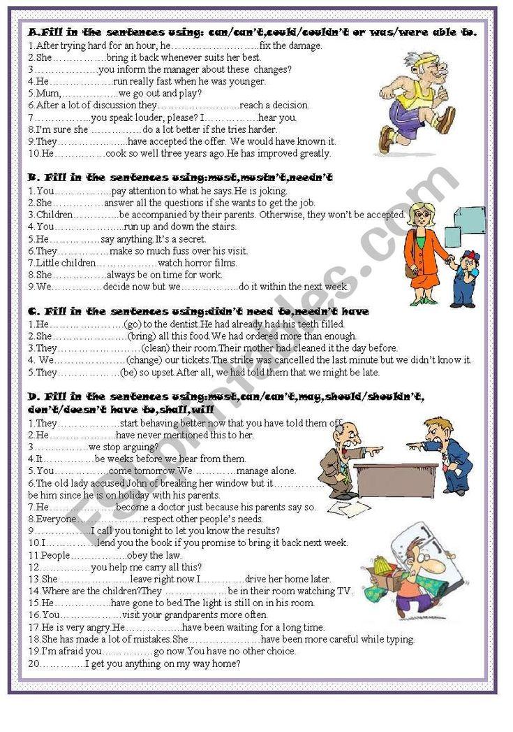 Contoh Soal Modal Auxiliary : contoh, modal, auxiliary, Modal, Verbs, Worksheet, Grammar, Dokter, Andalan