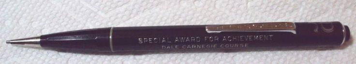 Vintage Durolite Mechanical Pencil Dale Carnegie Special Award Advertising Black #Durolite