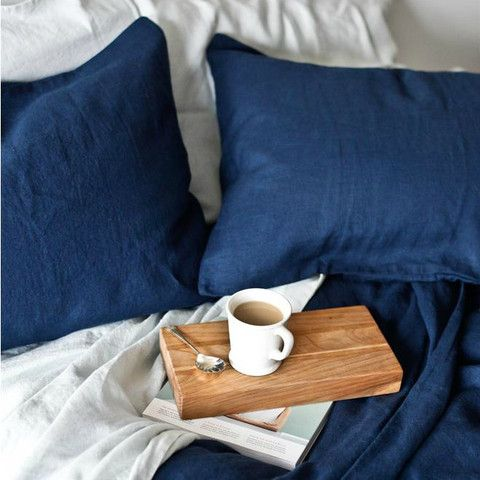 • PRE-ORDER • Stonewashed Linen Pillowcase Set in Ink Blue