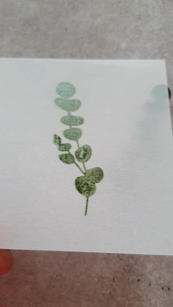 Eucalyptus leaf rubber stamp for bullet journal botanical