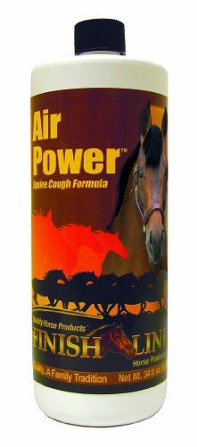 Finish Line Horse Products Air Power Formula Natural Stop Horses Coughing 1/2oz