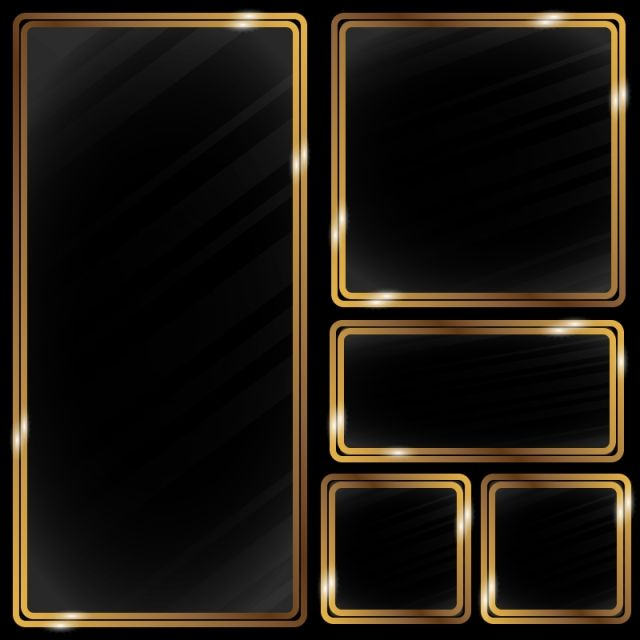Golden Metallic Frame Effect Rectangle Clipart Frame Gold Png And Vector With Transparent Background For Free Download Poster Background Design Gold Photo Frames Blue Texture Background