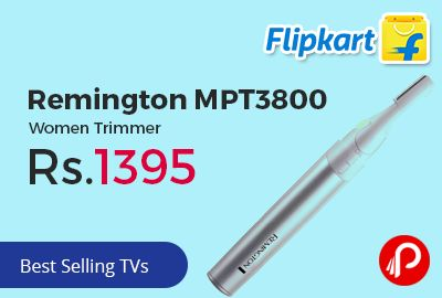 Flipkart is offering Remington MPT3800 Women Trimmer at Rs.1395 Only. Eyebrow Shaper, Cordless Trimmer.  http://www.paisebachaoindia.com/remington-mpt3800-women-trimmer-at-rs-1395-only-flipkart/
