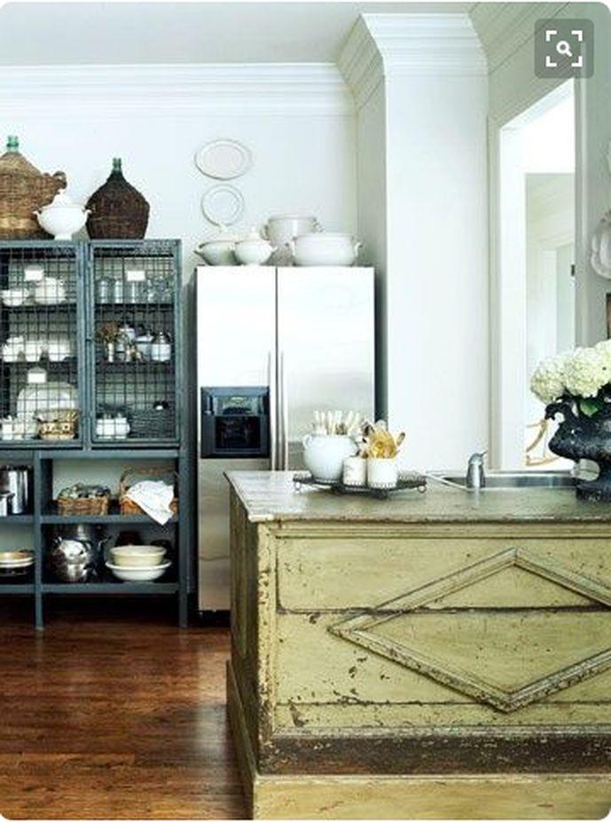 free-standing kitchen cabinets   Vintage farmhouse kitchen ...