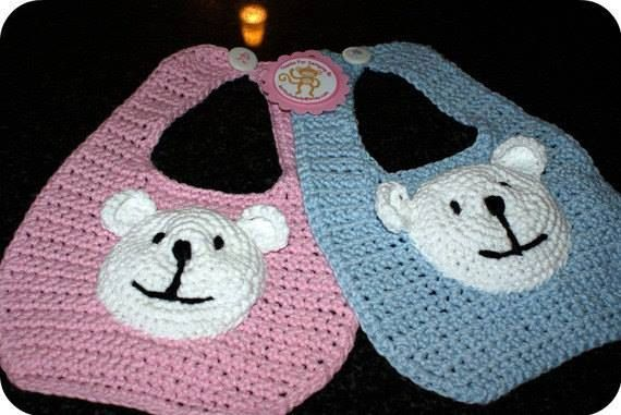 Teddy Bear Bibs Set by CheekeemonkeeStore on Etsy