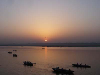 Sunrise in Benares, India