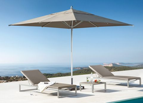 The Square garden parasols by Manutti Belgium are exceptionally strong, and look fantastic. Manutti parasols will easily meet the demands of both a home & commercial environment.  Made in Sunbrella fabrics and suitable to be left outside all year round. Colours include canvas, black & taupe.