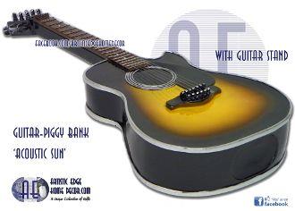 Guitar Money Bank Acoustic Sun