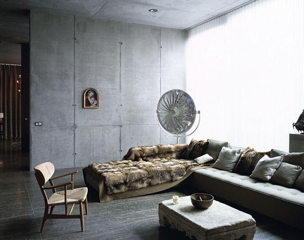 hormigón en las paredes
