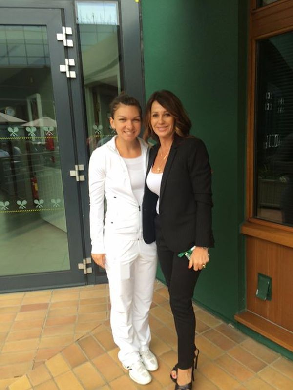 Nadia Comaneci and Simona Halep at Wimbledon