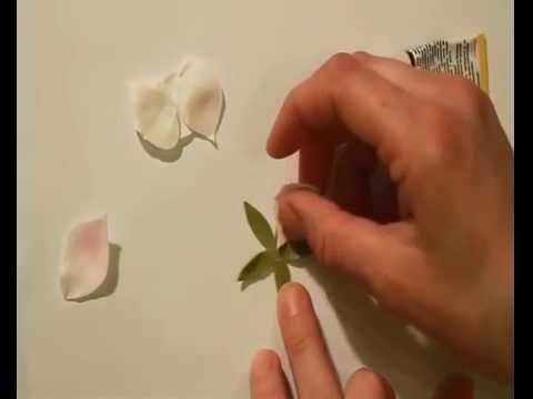 Как сделать ободок с цветами яблони из фоамирана материал на www.mylco.ru - YouTube