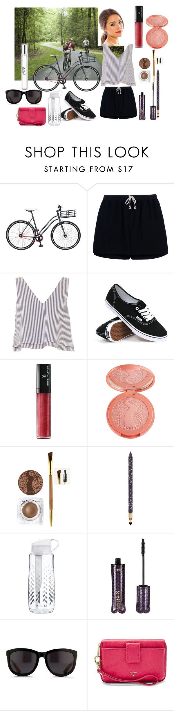 """""""Untitled #199"""" by vintagelady52 ❤ liked on Polyvore featuring Martone Cycling Co., Rick Owens, Apiece Apart, Vans, Vincent Longo, tarte, Brita, The Row, FOSSIL and philosophy"""