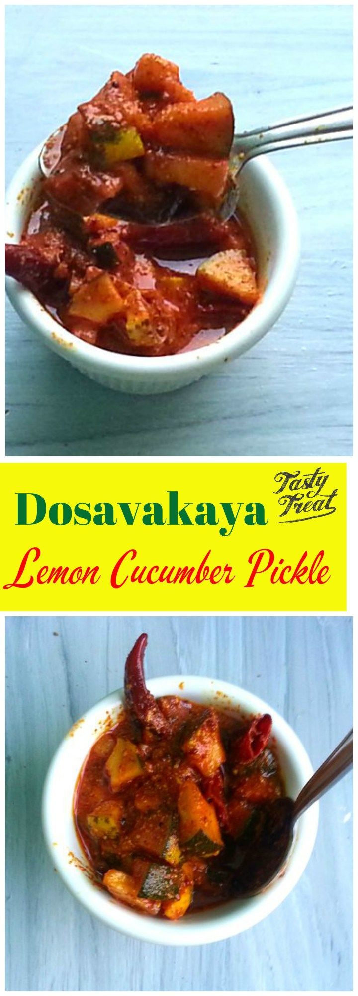 How many of you know that Lemon Cucumber can be pickled just like Mangoes? Yes it is called Dosavakaya. Meaning Lemon Cucumber Pickled in mustard. One of the most famous Instant Pickle of Andhra Pradesh. It comes as a saviour in small traditional functions and parties.