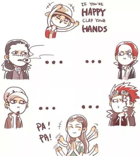Clap you're hands/Luffy,Kid,Crocodile, Shanks, Law,Robin/One piece