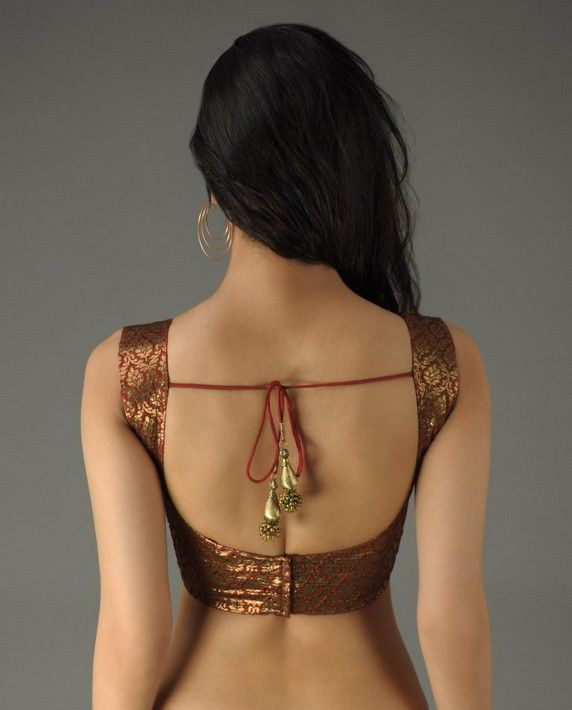 Cocktail saree blouse designs