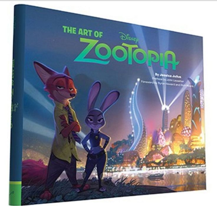 The Art of Zootopia Book Fun Gift Children Kids Movie Animation Collection Hard