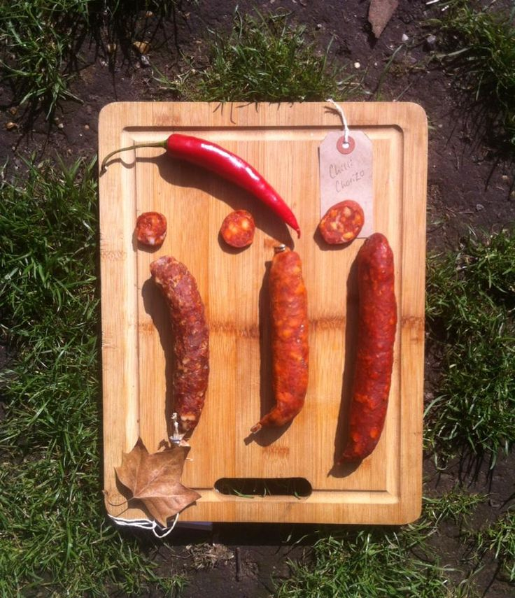 Our British chorizo from Cornwall, Kent and Suffolk.