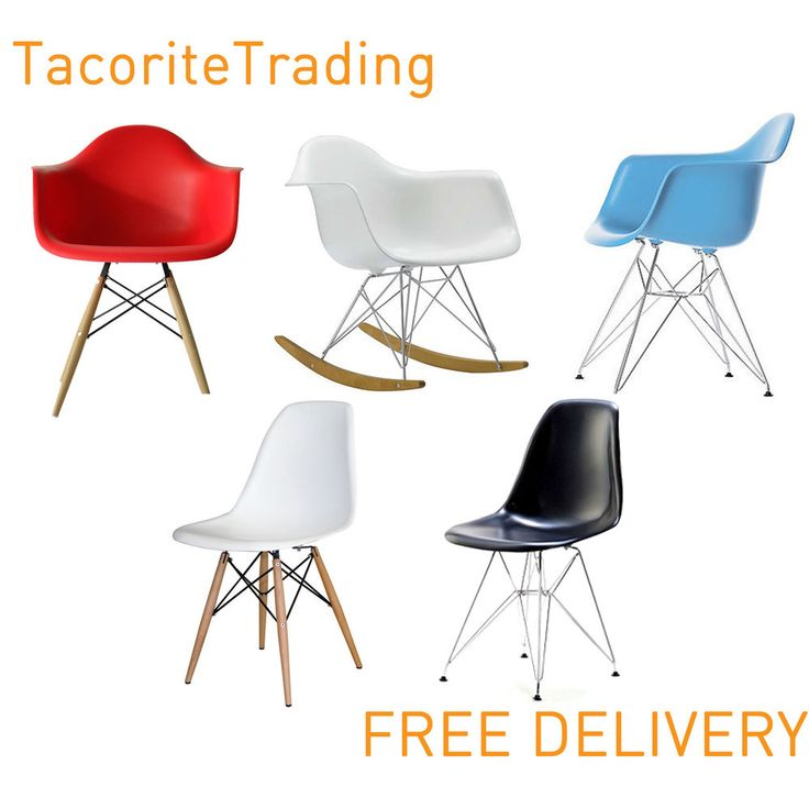 Charles Eames Eiffel Retro Dining Chairs Office Furniture Modern Lounge Armchair £34.99 ebay