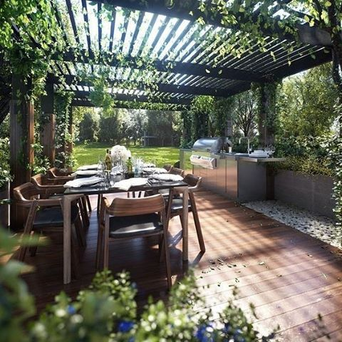 BBQ season is upon us! Who else is excited? #TheHomeAus #summer #entertaining #homedesign Image via #Pinterest