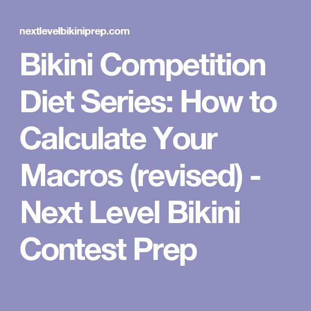Bikini Competition Diet Series: How to Calculate Your Macros (revised) - Next Level Bikini Contest Prep