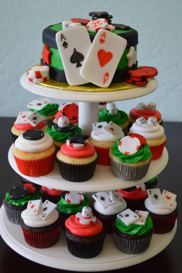 Casino cake and cupcakes