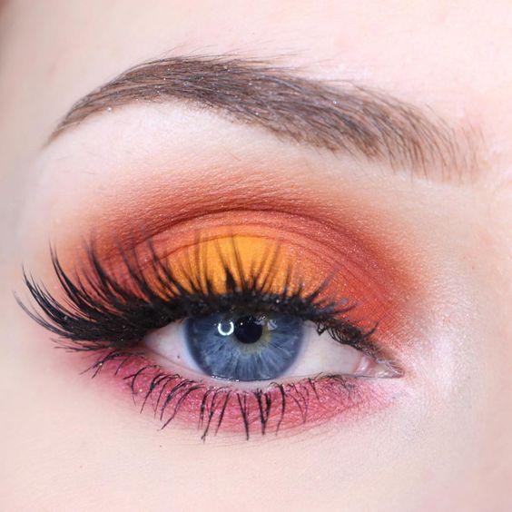 Turuncu Göz Makyajı Nasıl Yapılır? #EyeMakeupOrange #EyeMakeupPink